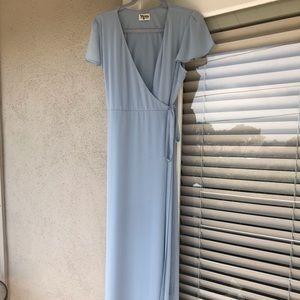 Show Me Your Mumu bridesmaid wrap dress